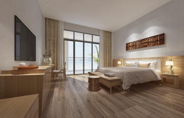 东南亚卧室 双人床