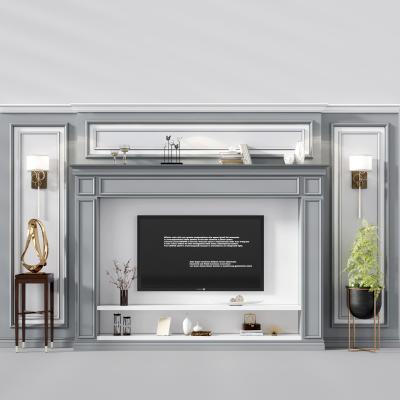 简欧壁炉 电视背景墙 装饰柜壁炉