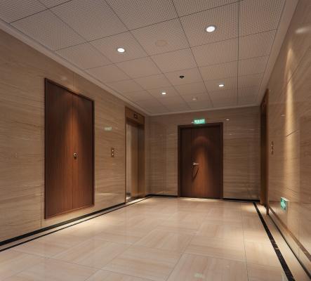 现代公司过道 电梯间前室