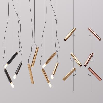 现代风格的金属吊灯