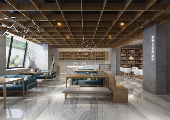 新中式图书馆 饮茶区