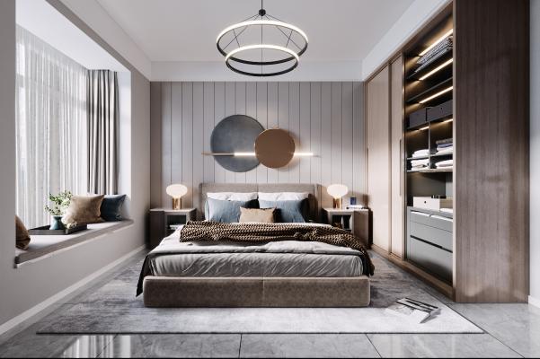 现代卧室 衣柜