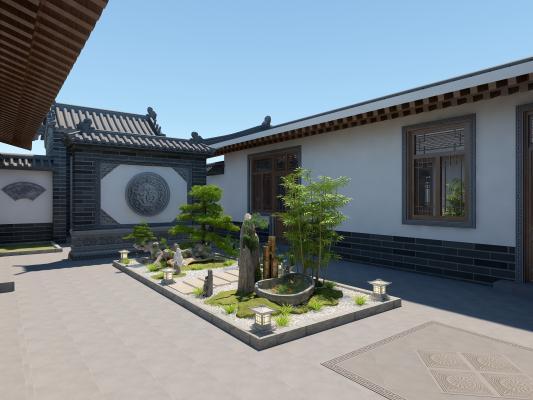 新中式景观庭院