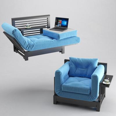 新中式單人躺椅