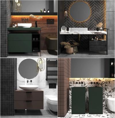 现代浴室柜 台盆组合