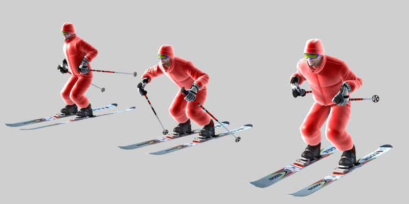 现代滑雪 滑雪人物