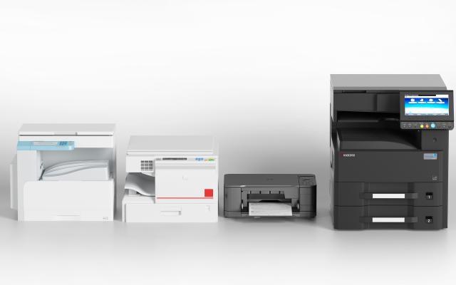 现代办公器材 打印机 复印件