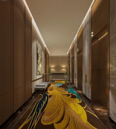 现代风格酒店 旅馆 电梯厅