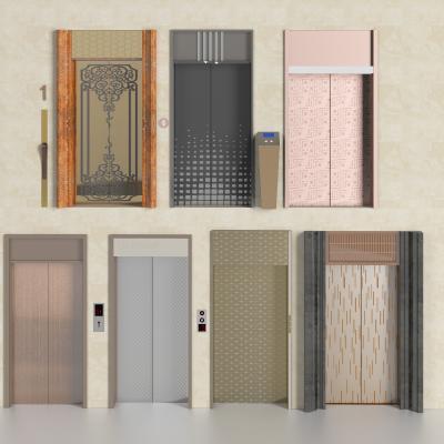 现代电梯大门 入口