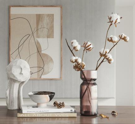现代棉花雕塑摆件组合