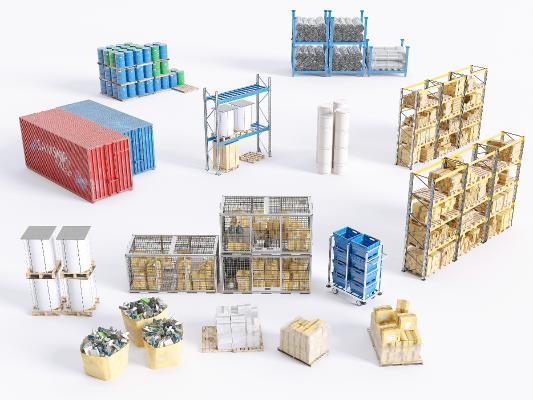 现代集装箱 木箱 箱子