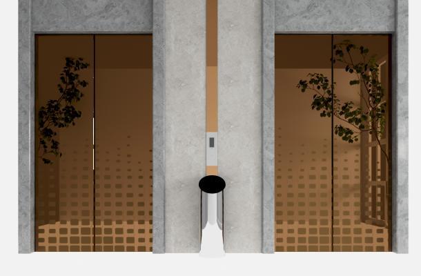 现代电梯门 电梯口
