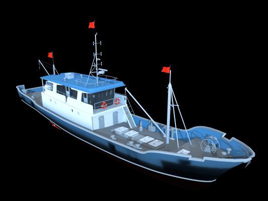 现代渔船海警船