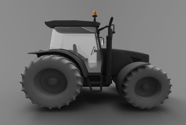 现代风格推土车