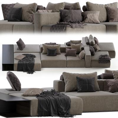 现代多人组合沙发