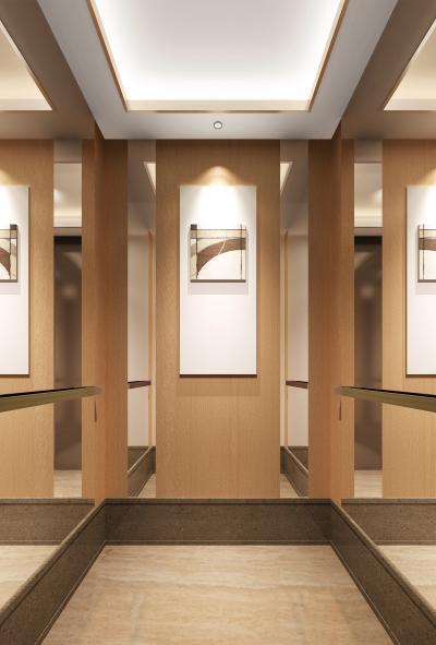现代电梯间轿厢