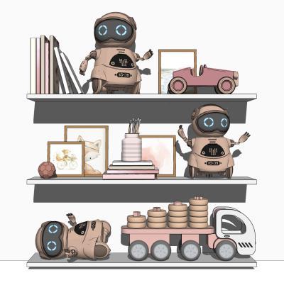 现代儿童玩具机器人 摆件 装饰架