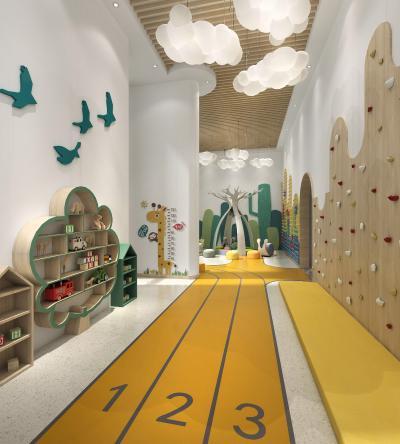 现代儿童娱乐区 儿童休息区 儿童教室