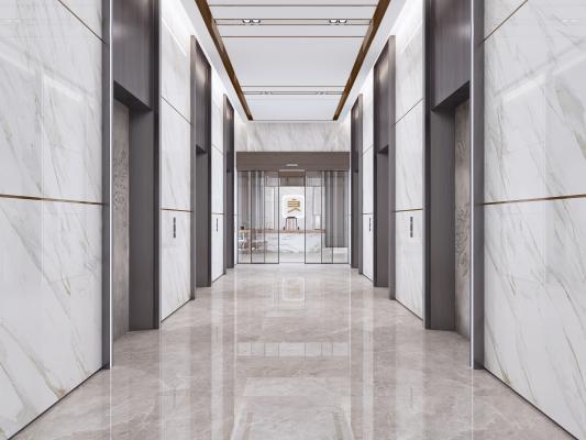 现代电梯间走廊
