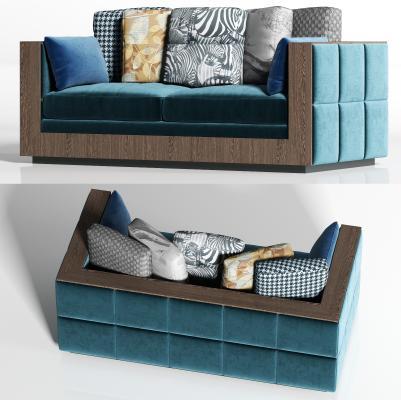 现代双人沙发