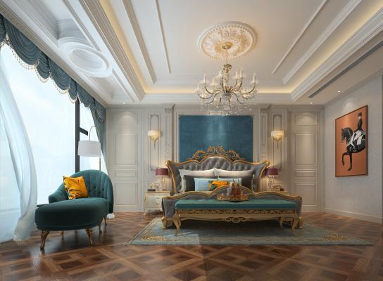 欧式古典卧室贵妃榻
