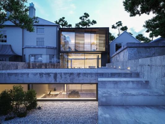 现代混凝土别墅