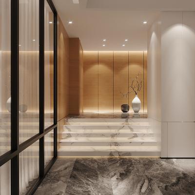 现代快捷酒店前厅 电梯通道