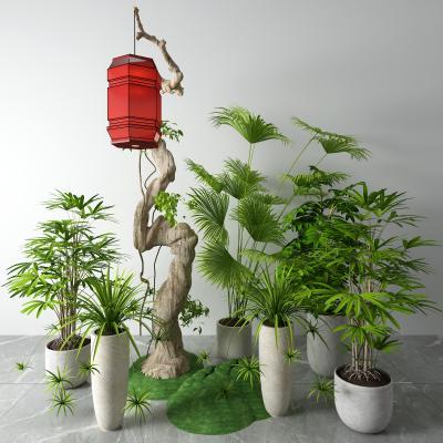 新中式盆景 灯笼