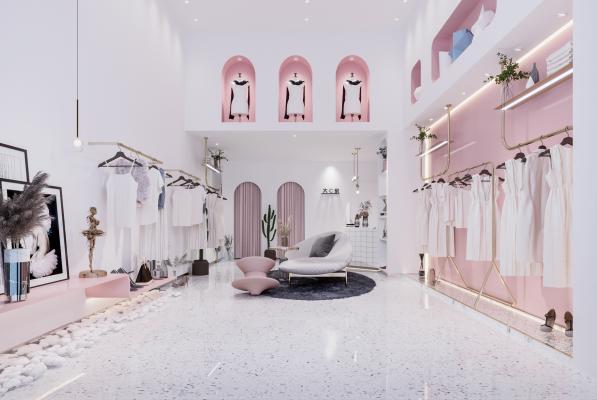 现代轻奢服装店 女装店