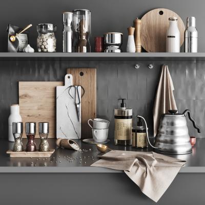 现代厨房用品组合 调味瓶