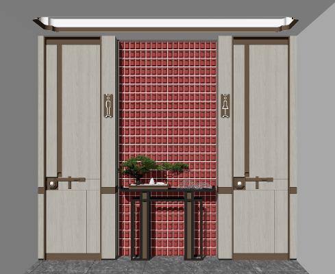 新中式玄关柜 端景台