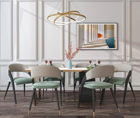 现代简约餐桌