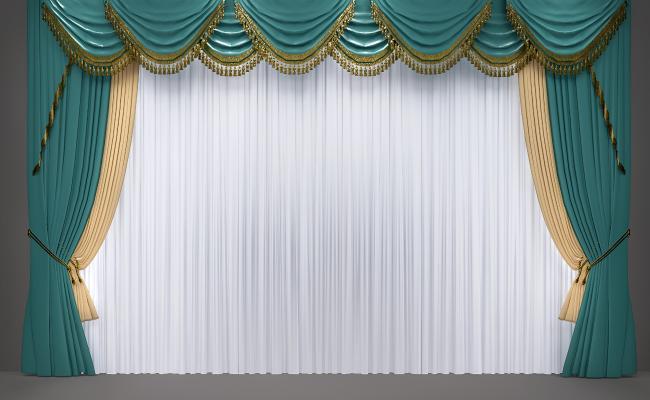 欧式窗帘 简欧窗帘