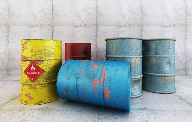 工业风油桶装饰摆件组合