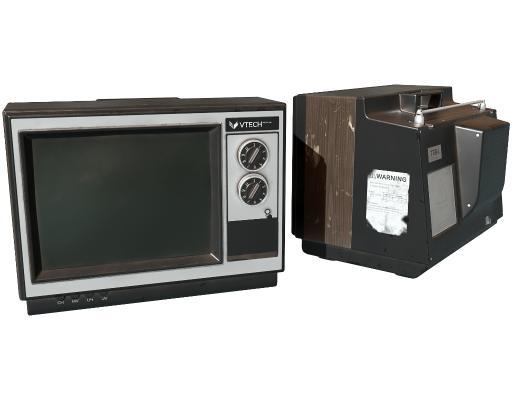 现代老式电视机 古董电视 黑白电视