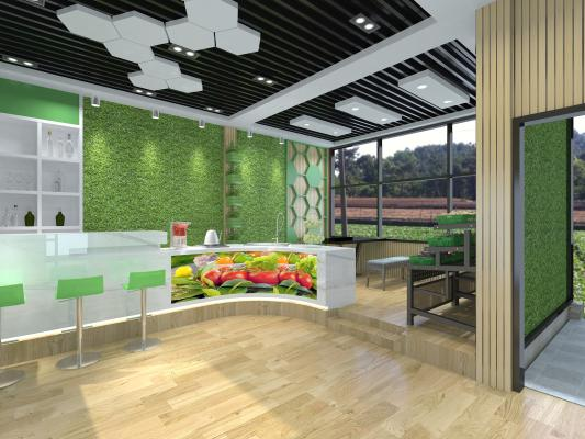 现代蔬菜花园展厅 植物展厅 生态展厅