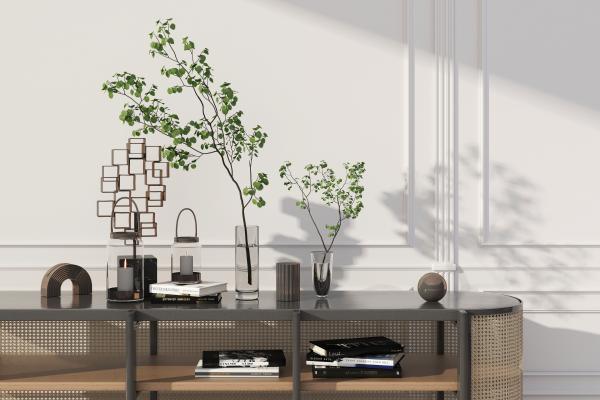 现代绿植饰品组合