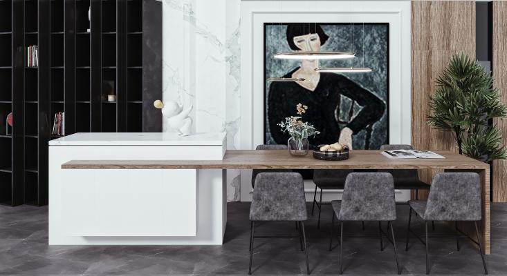现代吧台 吧椅 餐桌椅