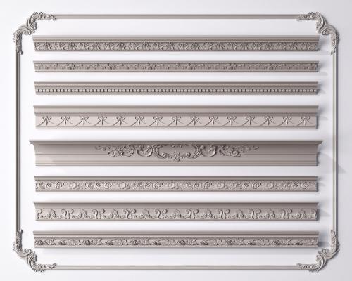 简欧石膏线 石膏线 构件线条