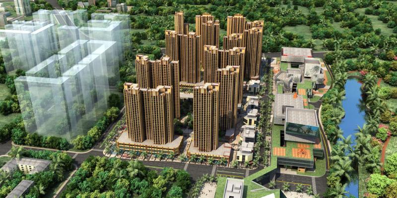 现代住宅鸟瞰规划