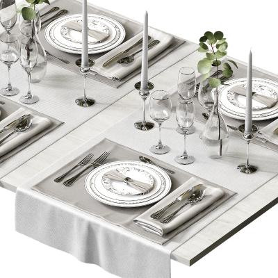 现代餐具 摆盘 陈设
