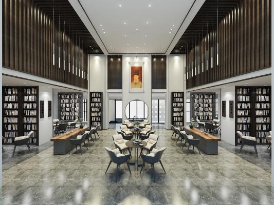 新中式图书馆