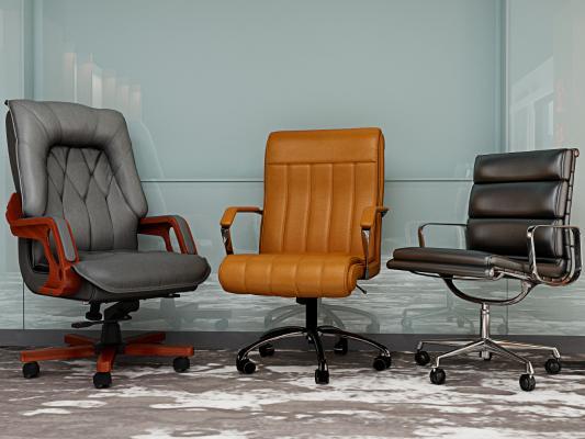 现代办公椅 会议椅 皮革椅