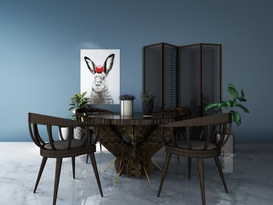 东南亚休闲桌椅