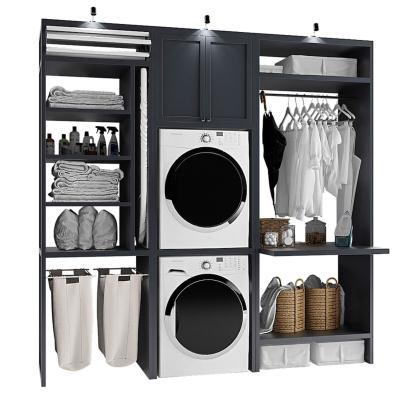 现代洗衣机 储物柜