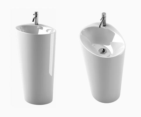 现代洗手台 洗手盆 水龙头