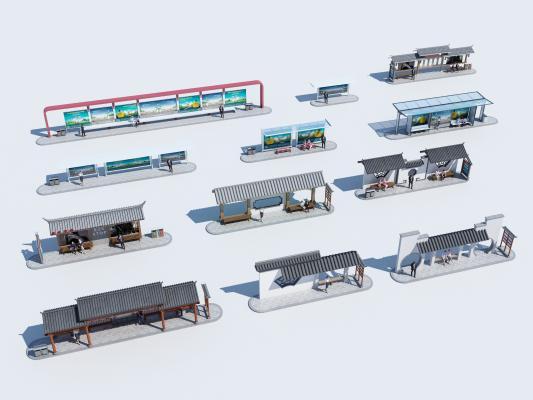 新中式公交车站