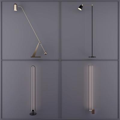 现代落地灯 灯具 灯