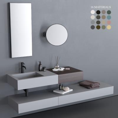 现代洗手台 面盆