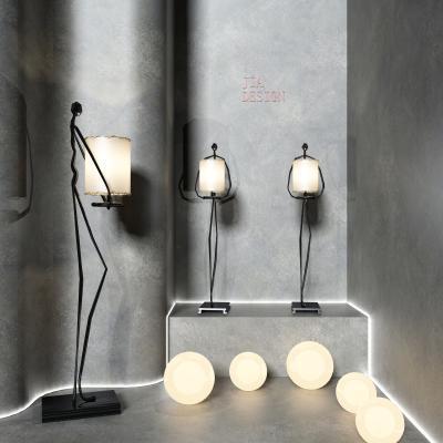 现代创意人物雕塑 落地灯